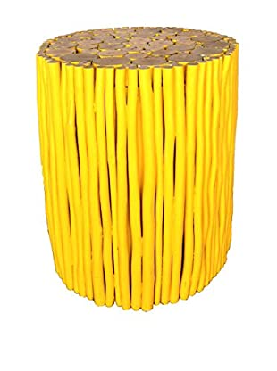 Asian Art Imports Yellow Stick Stool