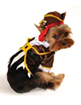 Anit Accessories Pirate Captain Dog Costume, 8-Inch