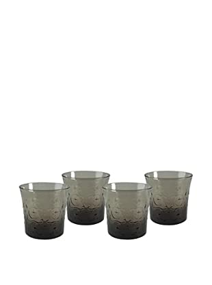 Artland Set of 4 Echo 10-Oz. Double Old-Fashioned Glasses, Smoke