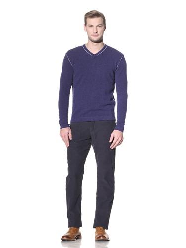 Benson Men's V-Neck Sweater (Nightfall Blue)