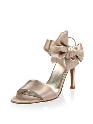 Stuart Weitzman Women's Bigbow Sandal (Blonde Satin)