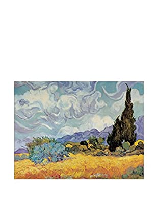 ArtopWeb Panel de Madera Van Gogh Cypress Trees 80x60 cm