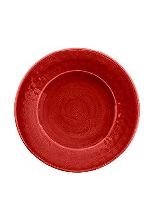 Color Wash Melamine Salad Plate, Solid Red