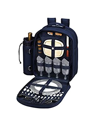 Picnic at Ascot Bold Backpack Cooler For 4, Navy