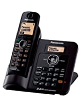 Panasonic Single Line 2.4GHz KX-TG3811SXB Digital Cordless Telephone (Black)