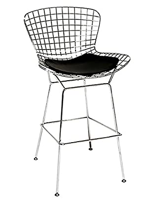 Manhattan Living Wire Bar Height Chair, Black