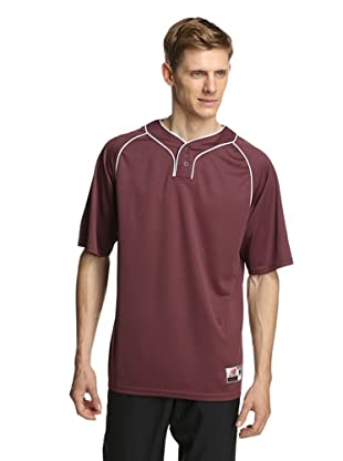 New Balance Men's Team Two Button Jersey (Team Maroon)