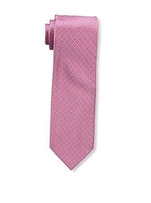 Bruno Piattelli Men's Microneat Silk Tie, Red