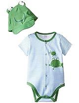 Gerber Baby-Boys Newborn Frogs Creeper with Cap