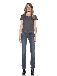DL 1961 Premium Denim Women's Kate Biker Slim Straight Leg Jeans (Grotto)