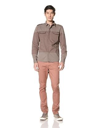 Zanerobe Men's Warfare Military Shirt (Khaki)
