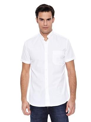 Pedro del Hierro Camisa Lino Liso Non Iron (Blanco)
