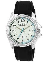 Maxima Ego Analog White Dial Men's Watch - E-33832PAGC