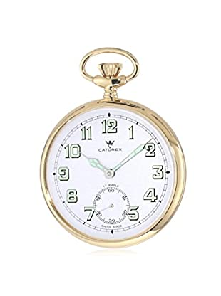 Catorex Men's 170.6.1810.121 Les Breuleux 18K Gold-Plated Pocket Watch, White