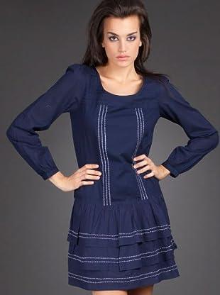 Naf Naf Vestido (azul marino)