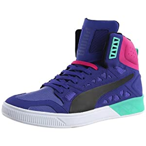 Puma Men's Suede Casual Sneakers-Black