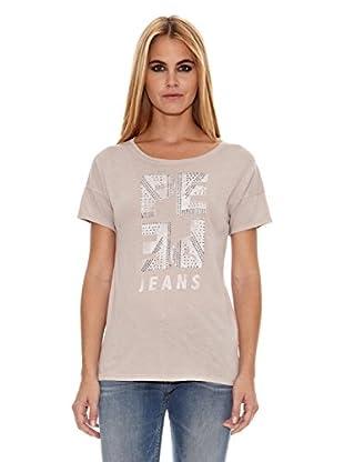 Pepe Jeans London Camiseta Peebles (Marrón Claro)