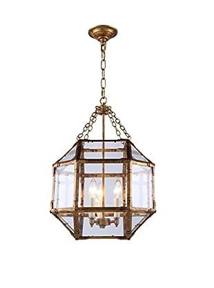 Urban Lights Gordon Small 3-Light Pendant Lamp, Golden Iron
