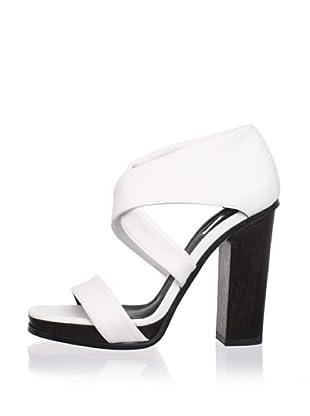 Calvin Klein Collection Women's Fiana Strappy Sandal (Porcelain)