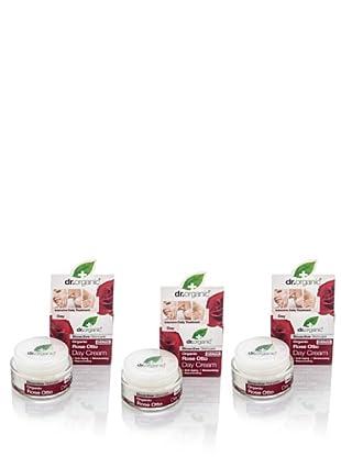 Dr.Organic Set 3 Crema Facial de Día Rosa de Mosqueta 50Ml (u)