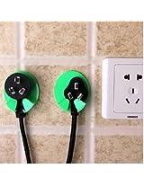2Pcs Kitchen Socket Hook Holder Safe Plug Kids Children Protect Safety Power Electricity Wall Hanger
