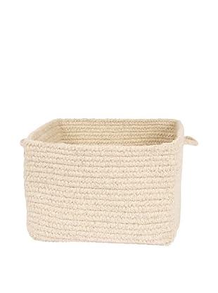 Colonial Mills Chunky Natural Wool Basket, (Natural)