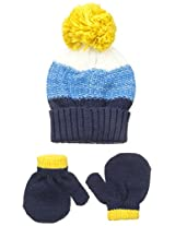 Carters Baby-Boys Cuff Hat and Matching Mitten Set