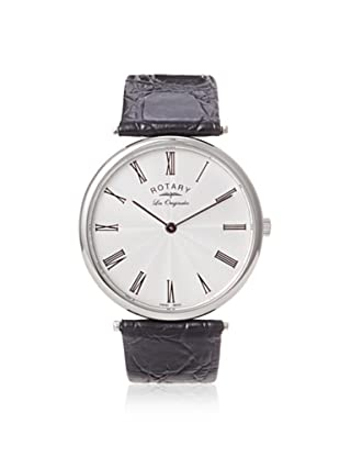 Rotary Men's GS90000-21 Les Originales Black/Silver Leather Watch