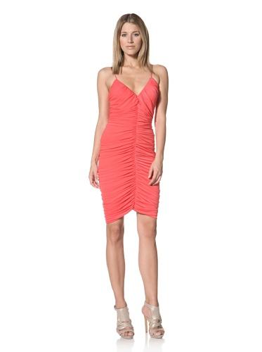 Halston Heritage Women's Ruched Dress (Poppy)