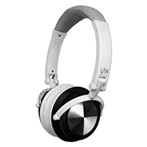VM Audio SRHP3 Stereo MP3/iPhone iPod Over Head On Ear DJ Headphones Gray/White AD