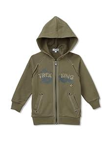 Alphabet Boy's Trek King Zip-Up Hoodie (Army)