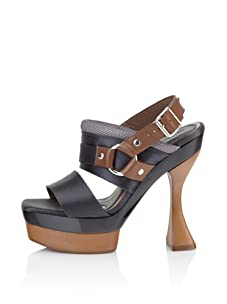 MARNI Women's Slingback Platform Sandal (Dark Grey)