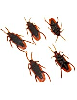 100 Pcs Fake Roaches Prank Novelty Cockroach Bugs Look Real Halloween Prop Decoration April Fools Day Prop Decoration