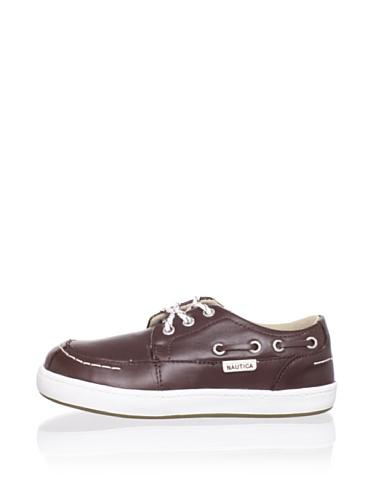 Nautica Norfolk Boat Shoe (Toddler/Little Kid) (Dark Brown)