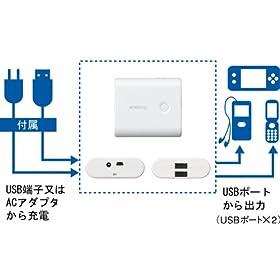 三洋電機 USB出力付きリチウムイオンバッテリー (専用高容量リチウムイオン電池使用) KBC-L2S KBC-L2S