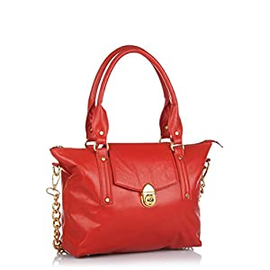 Ebano Handbag - Red