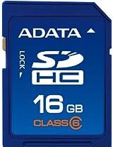 ADATA 16GB Class 6 SDHC Flash Memory Card ASDH16GCL6-R