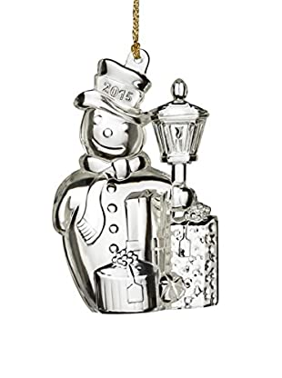Marquis by Waterford 2015 Traditional Snowman Ornament, Clear