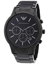 Emporio Armani Men's AR2453 Classic Analog Display Analog Quartz Black Watch
