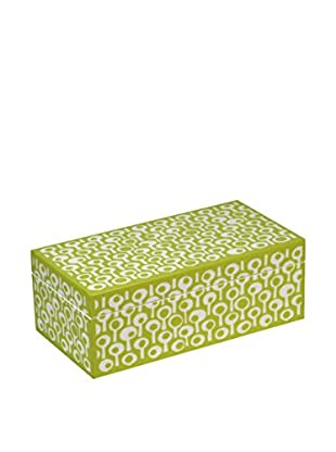 WOLF 1970's Collection Groovy Small Jewelry Box, Green