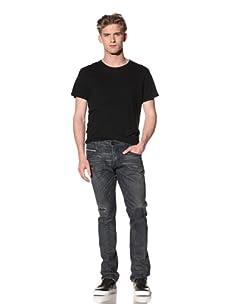 Rockstar Men's Slim Bootcut Jean (Blue)