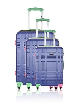 Travel ONE Set de 3 trolleys rígidos Fever Azul