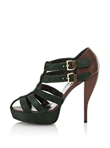Edmundo Castillo Women's Laura Platform Sandal (Loden/Chocolate)