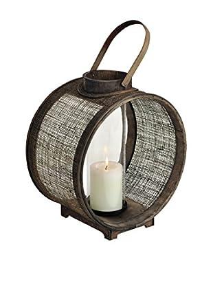Round Jute Lantern, Brown