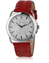 Kk-10011-02 Red/White Analog Watch
