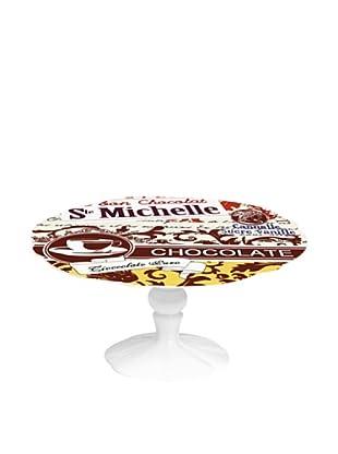 Easy Life Design Alzata Servi Pasticcini in Porcellana Ste Michelle Ø 20 cm