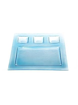 Kaleidos Piatto Chef Multiuso Quadro 28x28 cm (Azzurro)