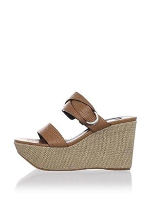 Calvin Klein Collection Women's Petra Wedge Sandal (Saddle)