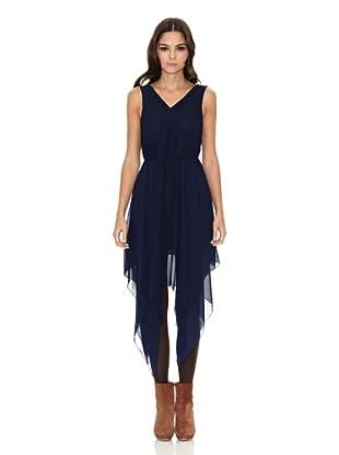 Rare London Vestido Asimetric (Azul Marino)