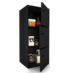 Housefull Mac 3-Door Storage Cabinet (Oak)